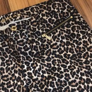 Like New Michael Kors Leopard Skinny Jeans